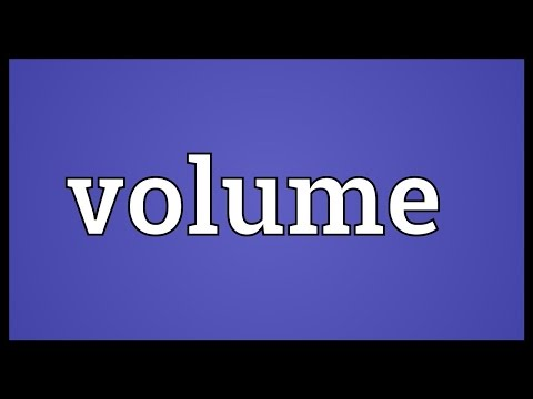 Volume Meaning