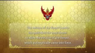 Senate election decree published in Royal Gazette