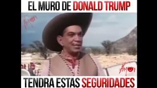 Cantinflas pasando el muro de Trump