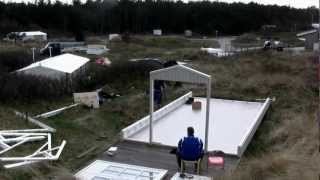 Plaatsing 't Klompke op camping Stortemelk op Vlieland