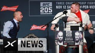 Stuhl-Attacke! Conor McGregor rastet völlig aus   UFC   Vor Mega-Kampf gegen Eddie Alvarez