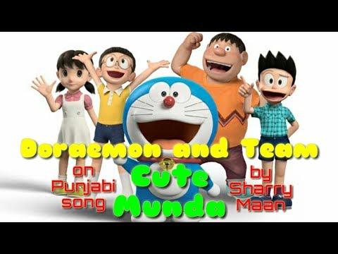 Doraemon and Team on Punjabi song 'Cute...
