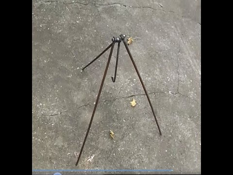 How to make a Campfire Tripod, for your Billy etc. DIY Camping Gear Projects