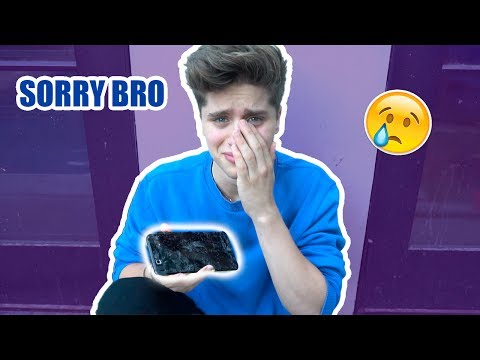 Thumbnail: I BROKE MY BROTHER'S PHONE (he cried)