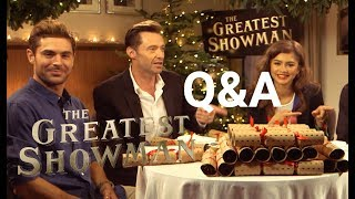 The Greatest Showman | Christmas Cracker Q&A | 2017