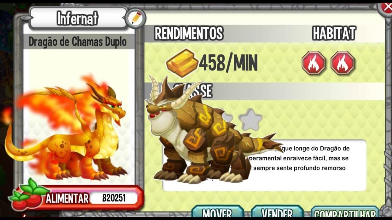 Dragon City Dragão Puro Dragon City Dragão Fogo