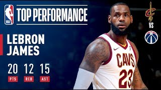 LeBron James Tallies THIRD Straight Triple Double