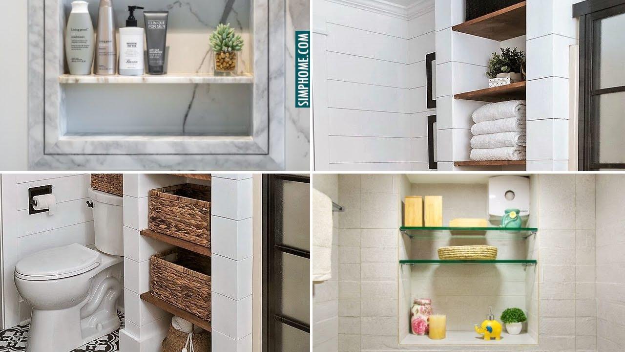 10 Diy Built In Bathroom Storage Ideas Youtube