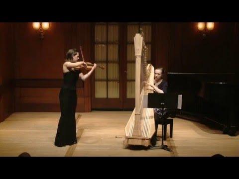 Claude Debussy - Beau Soir (violin and harp)