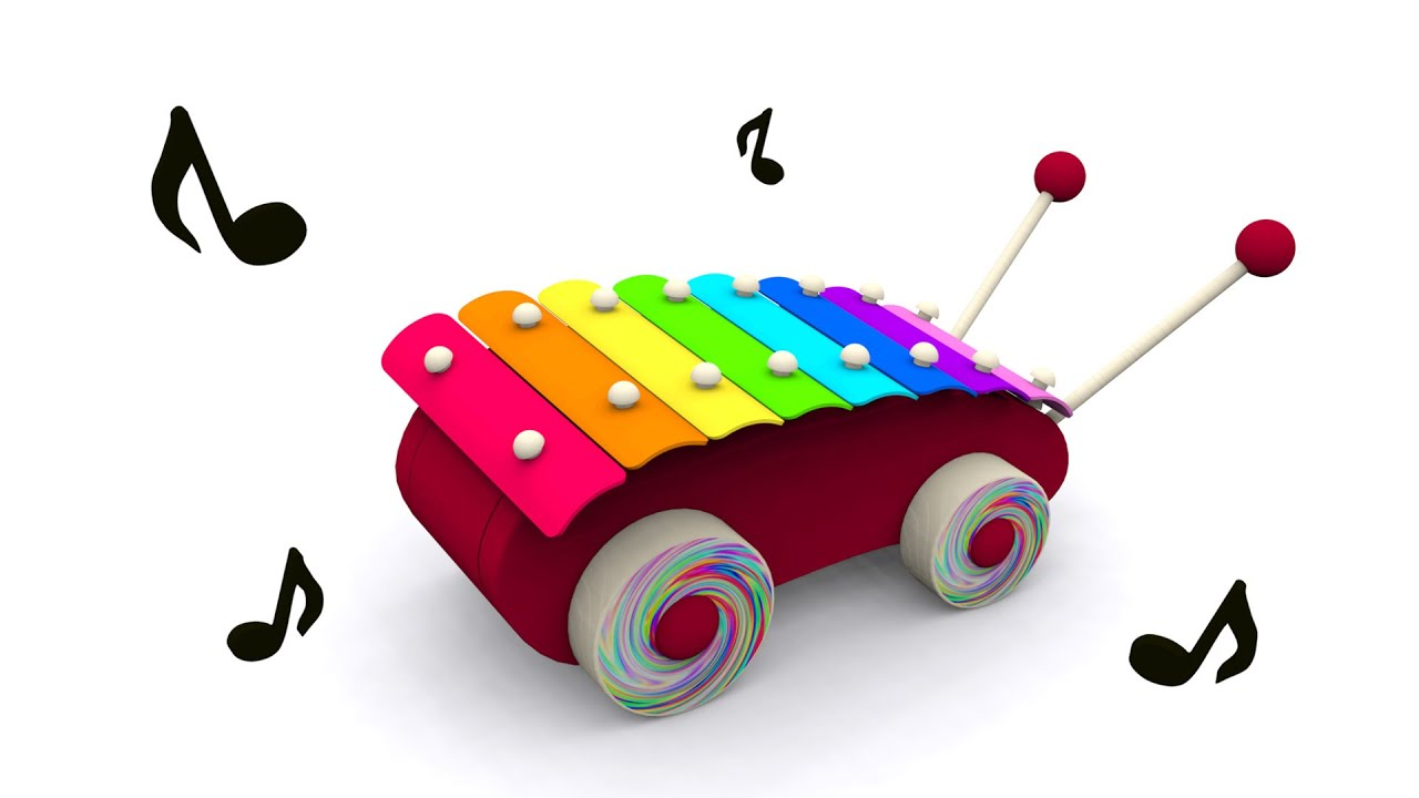 Cartoons for babies. Baby toys: xylophone. Learn and sing ...