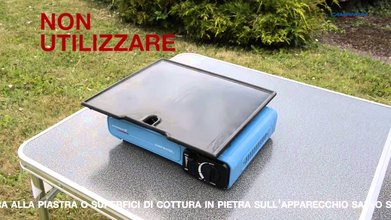 Fornello camp 39 bistro 1 fuoco campingaz youtube for Fornello elettrico ikea