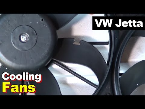 2012 VW Jetta Radiator AC Condenser Cooling Fan Motor