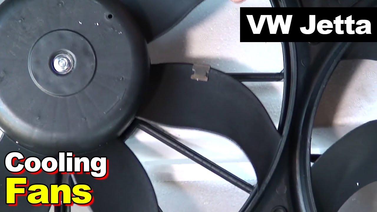 2012 vw jetta radiator ac condenser cooling fan motor [ 1280 x 720 Pixel ]