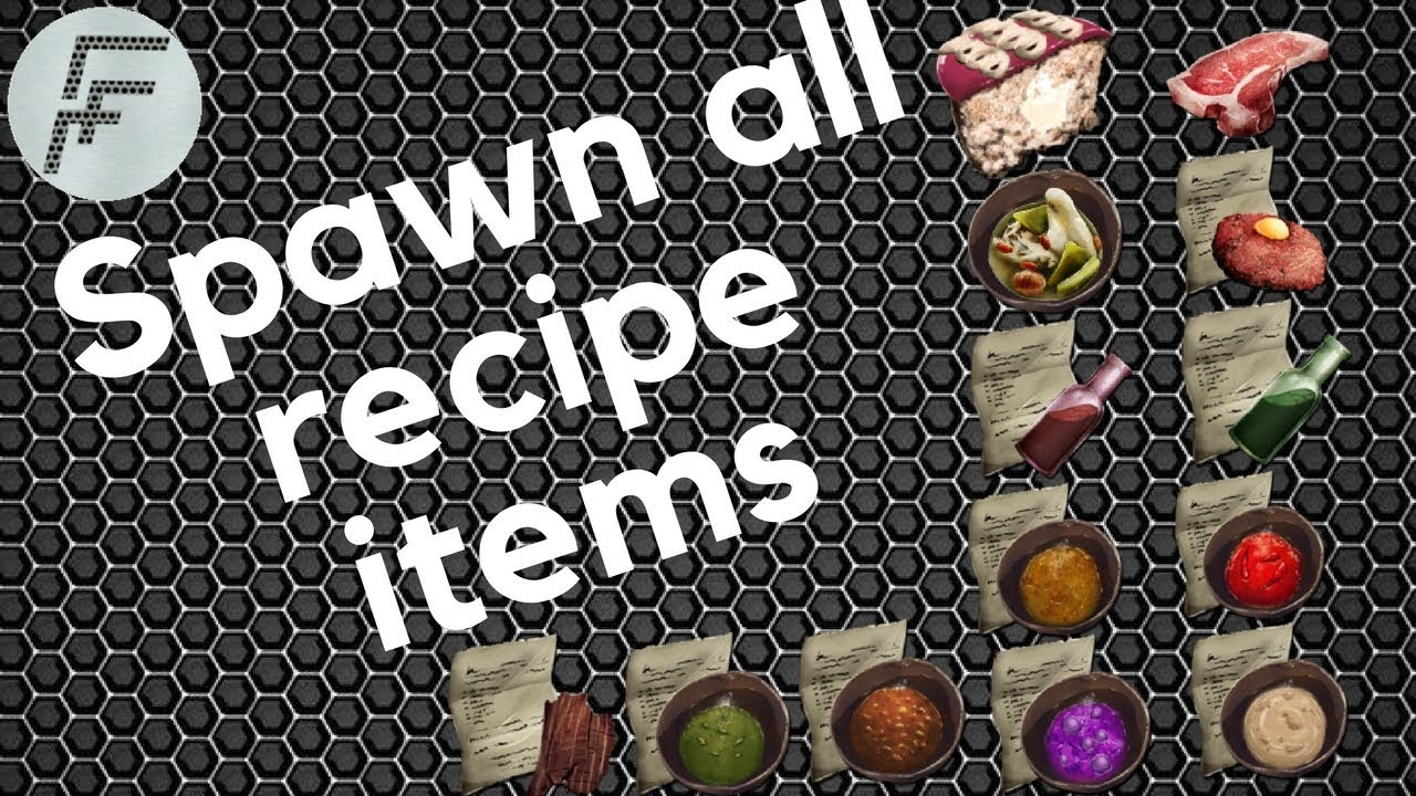 How to spawn all recipe items - ARK: Survival Evolved