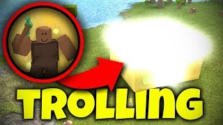 TRAPPING NOOBS *UNBREAKABLE* GOD HUT TROLLING | Roblox: Booga Booga