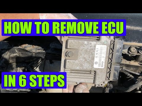 How to remove ECU (ECM) from a VW Golf Mk5, Rabbit, Jetta in 6 sTEPS