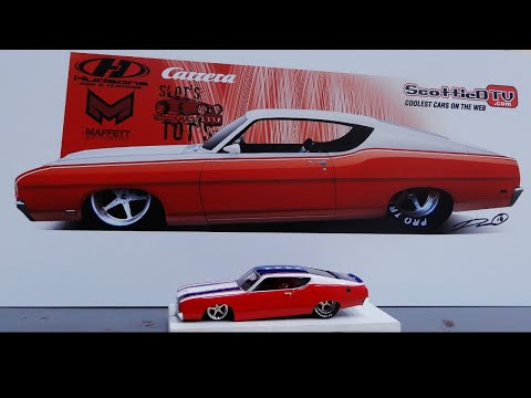 1969 Ford Torino ScottieDTV Slots 4 Tots Custom 132 Carrera Slot Car St Jude Charity Auction