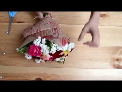 3 способа красиво упаковать букет в крафт-бумагу | ArtHolidays