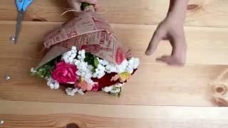 видео Как упаковать букет цветов