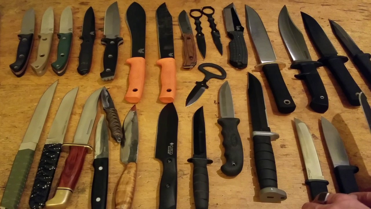 Knife Collection | knife collection dec 2016 fixed blades youtube