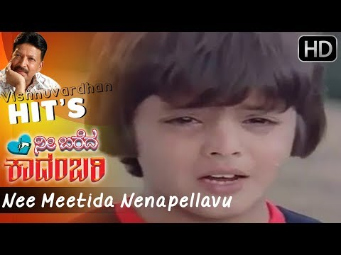 Nee Meetida Nenapellavu - Kannada Sad Song | Nee Bareda Kadambari Movie | S Janaki Hit Songs HD