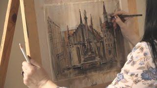 «Уроки рисования». Мариенплац в Мюнхене (14.04.2017)