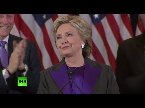 Hillary Clinton's Elections 2016 concession speech from New York (FULL, streamed live)