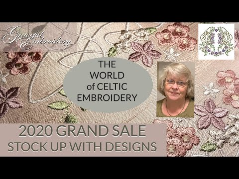The world of Celtic machine embroidery