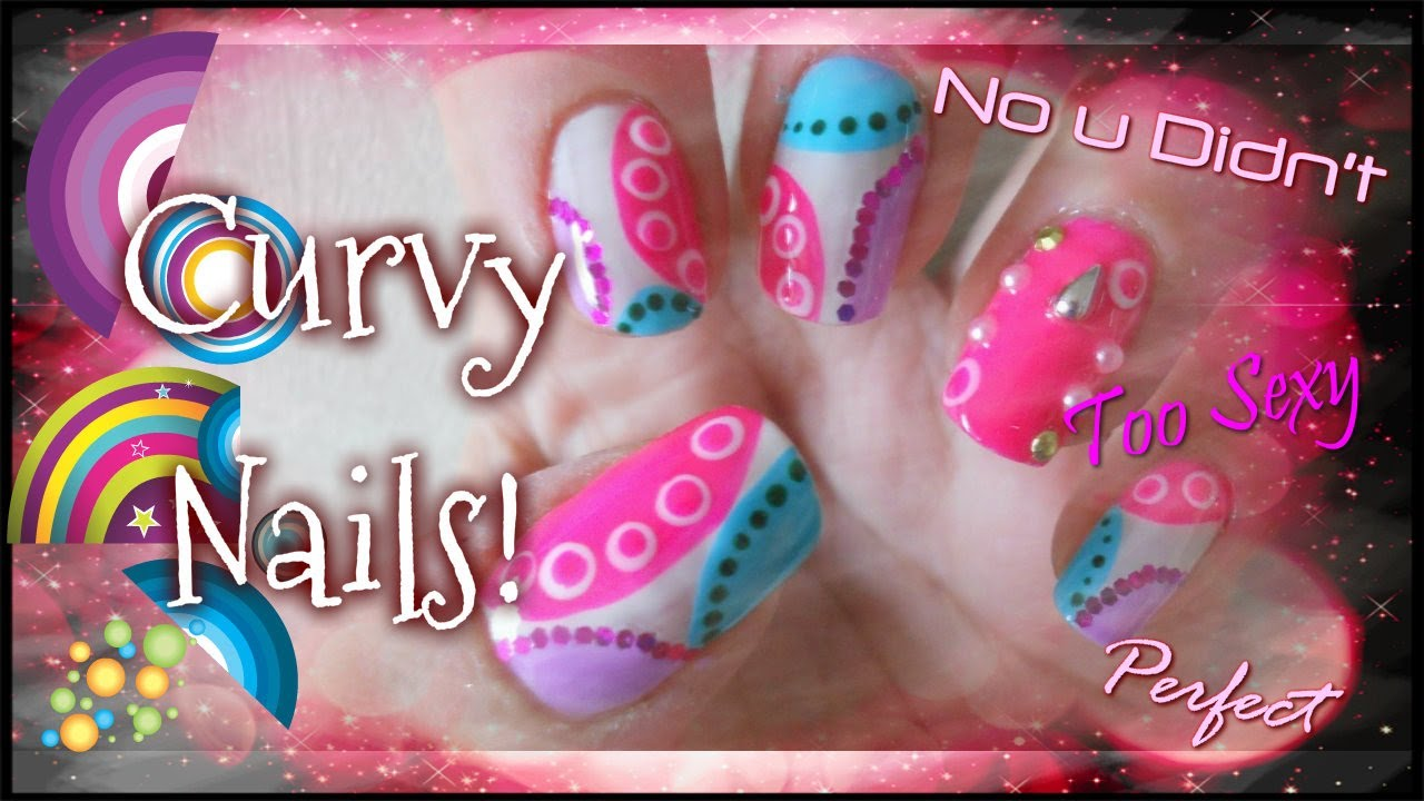Colourful nail art using stripers! Easy and simple! - YouTube
