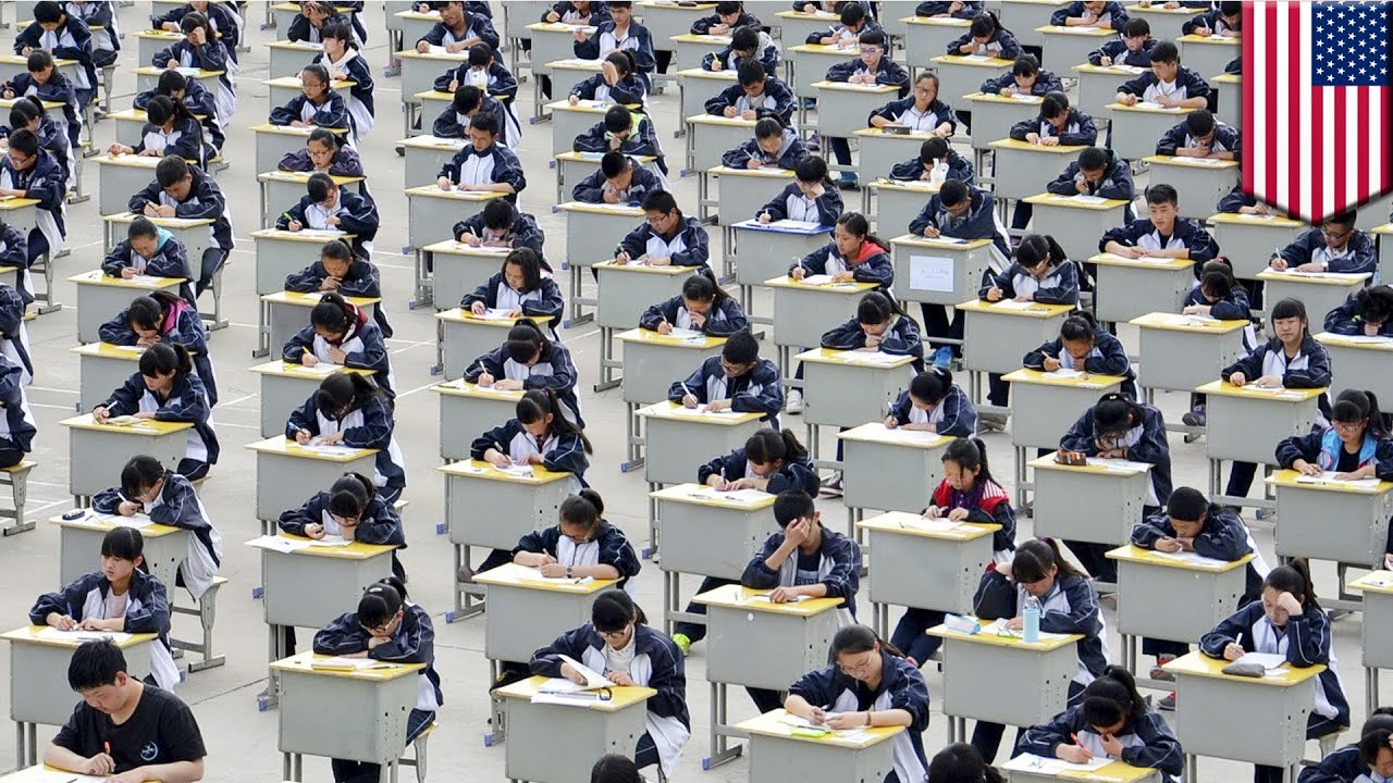 China exam naked girls