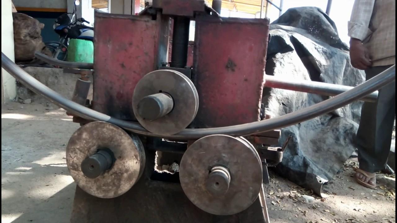 Awesome Metal Bending Machine Homemade At Work Metal Pipe >> Bending Machine Homemade Rolling Pipe Bending Machine