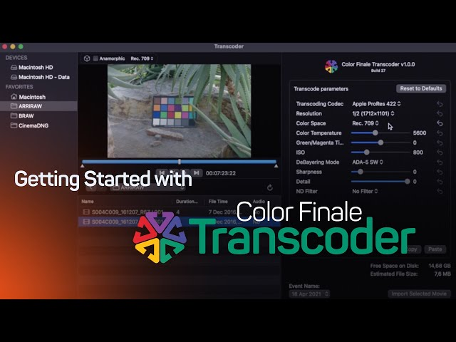 Getting Started with Color Finale Transcoder