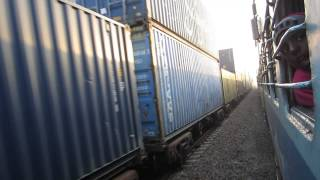 Double stack container train at Phulera junction .................