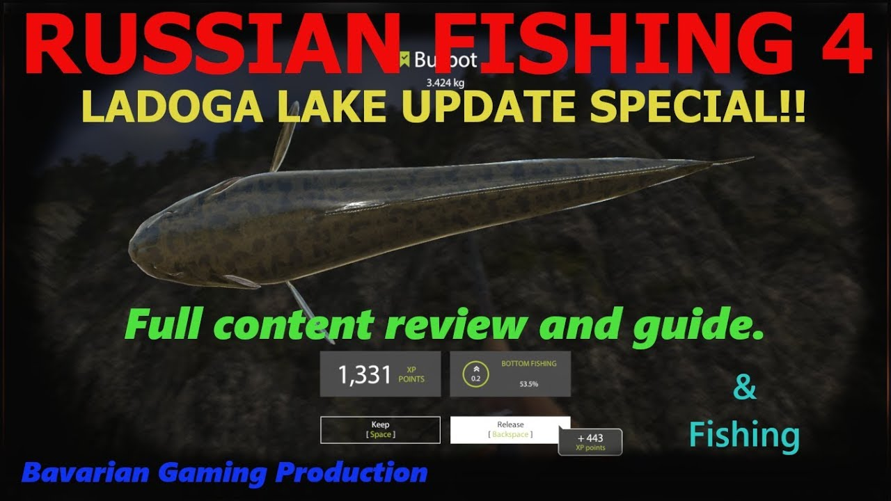 RUSSIAN FISHING 4 -Update Special - LADOGA LAKE - Cooking ...