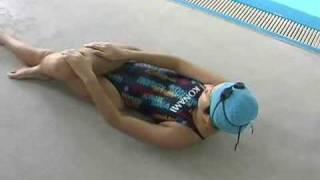 See how an Asian Girl Stretches in Swimsuit. Very sexy!
