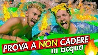 PROVA A NON CADERE IN ACQUA 💦 THE POOL IS LAVA 🔥 | Matt & Bise