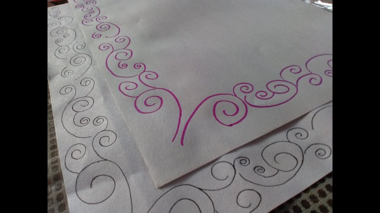 Amazing design how to draw simple border designs for project files quick and easy also rh youtube