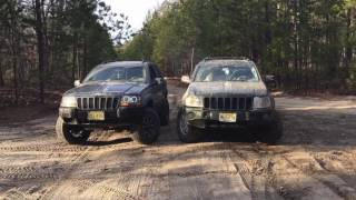mudding jeep grand cherokee wk and wj dirt on my boots