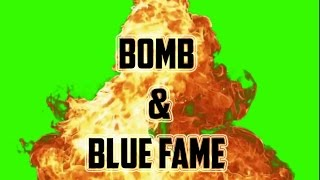 Green Screen bomb blast effect  | after effects green screen blue flame | free green screen |