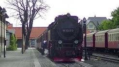 Bunter Bahnhof in Wernigerode und Drei Annen Hohne