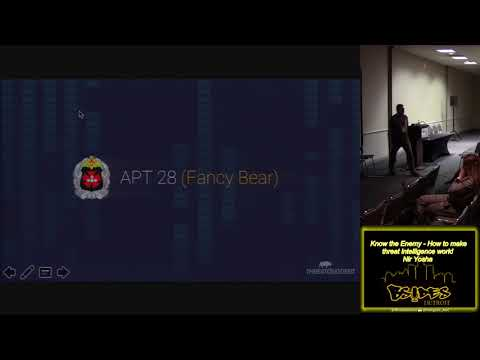 BSides Detroit 2018 103 Know the Enemy How to make threat intelligence work Nir Yosha