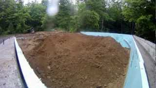 Sand And Stone Fill In - 12 - My Garage Build Hd Time Lapse