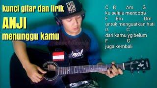Kunci gitar Anji menunggu kamu (no vocal) karaoke