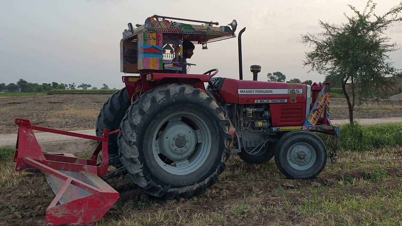 Massey 385 backblad plough. Amazing technique or farmer