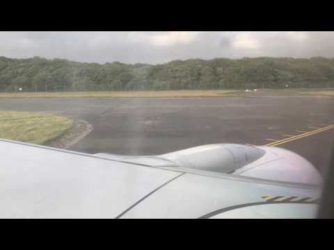 Taxi and take off from Newquay airport