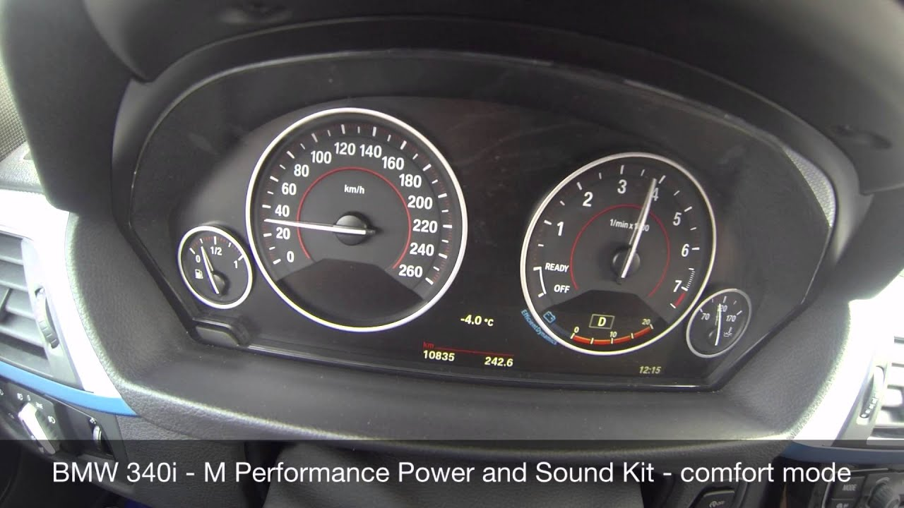 bmw 340i m performance power and sound kit driving modes inside youtube. Black Bedroom Furniture Sets. Home Design Ideas