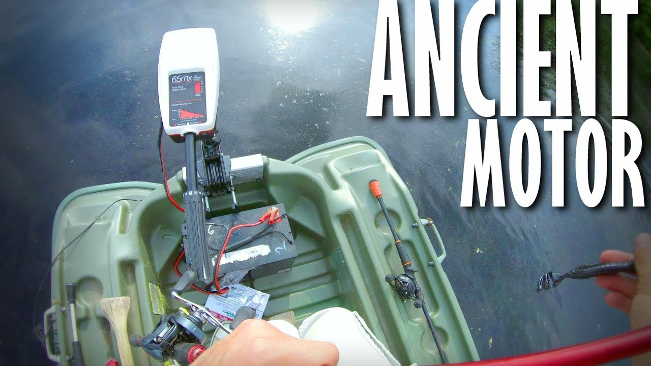 😳SUPER OLD MINN KOTA Trolling Motor..(does it work!?) on
