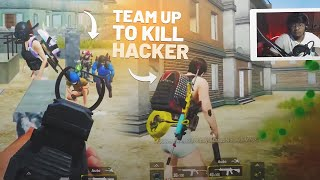 TEAMING UP WITH ENEMIES TO KILL HACKERS | PUBG MOBILE HIGHLIGHTS