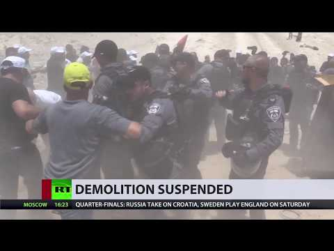 IDF clashes with journalists, protesters over West Bank Bedouin village demolition – report