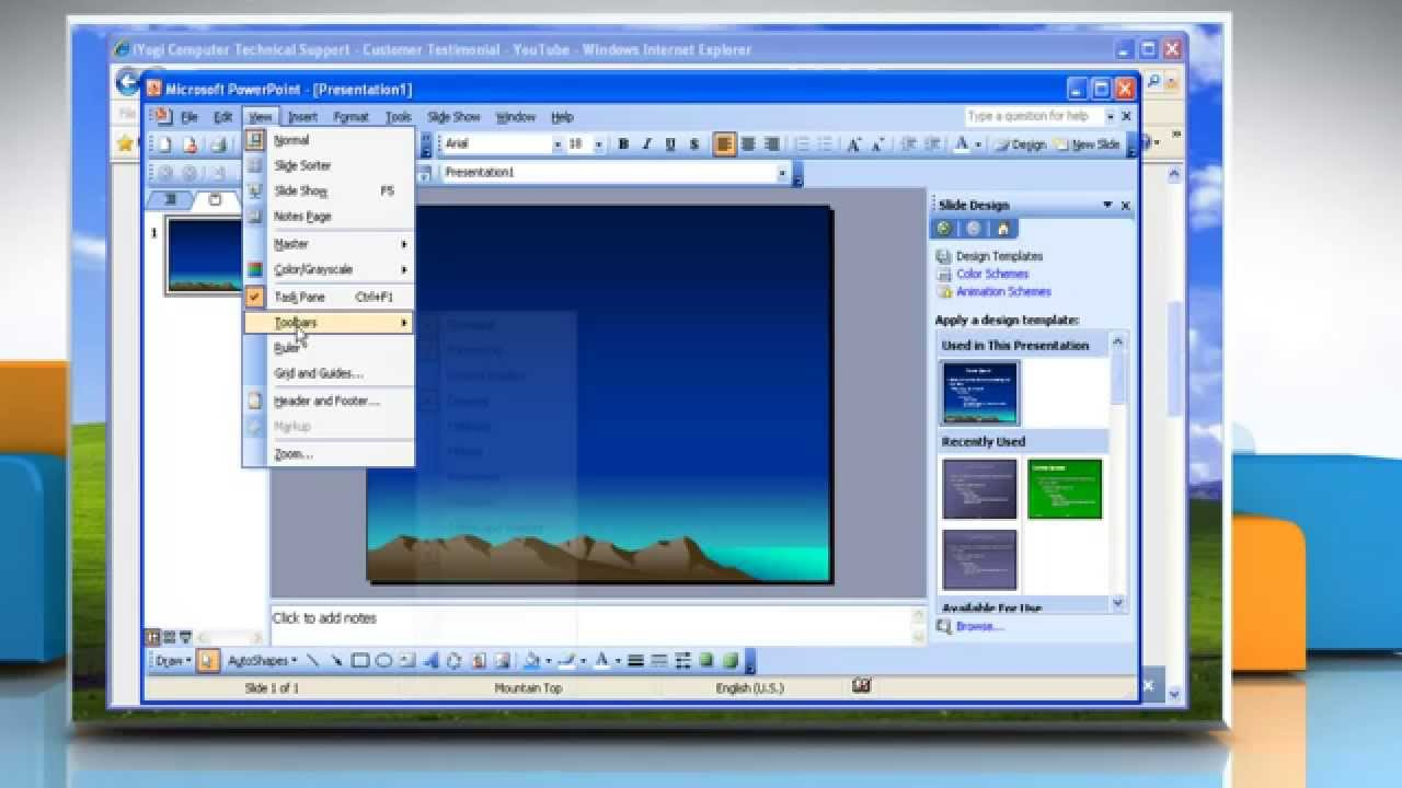 Microsoft� Powerpoint 2003: How To Embed A Youtube� Video Presentation On  Windows� Xp?